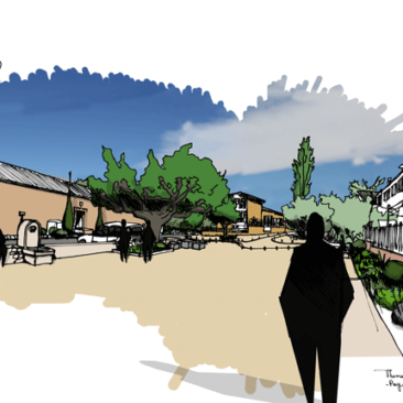 Proposition pour l'aménagement de la place et des espaces publics d'un hameau varois